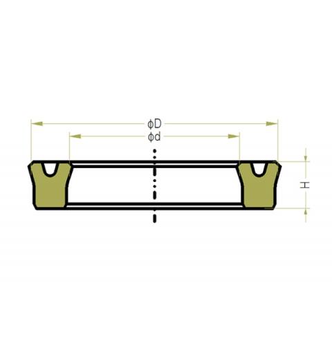 P5-9 USH Low Pressure Piston Rod Seals
