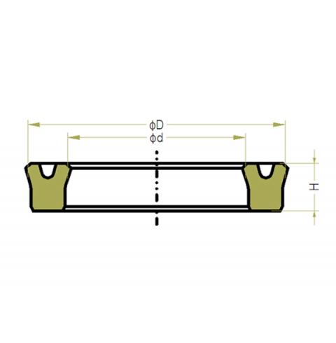 P5-10 USH High Pressure Piston Rod Seals